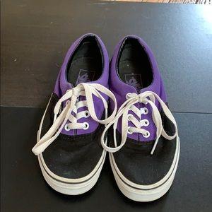 Vans black sneakers size 7